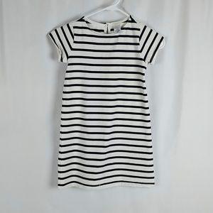 Crewcuts Girls Striped Knit Dress Blue Cream 7